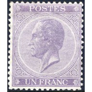"""21* H.M. King Leopold I type """"In profile""""."""