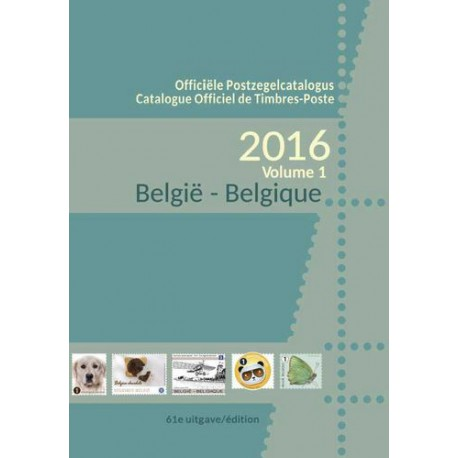 OBP - COB 2016 - Official Belgian Stamps catalog- (Part 1&2)