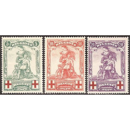 126-128** Belgian Red Cross -Statute of Merode